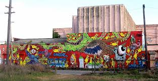 rise up a detroit mural by meggs bikes books a little music collaborative mural on an adjoining wall