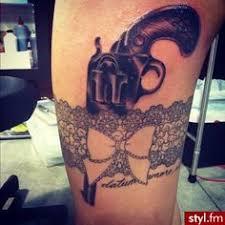 outline bow pistol tattoo design tattoobite com