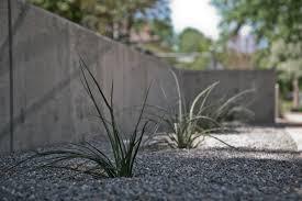 modern concrete block retaining wall with minimalist design on