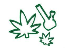 420 marijuana bong leaf cookie cutters pot leaf cookie