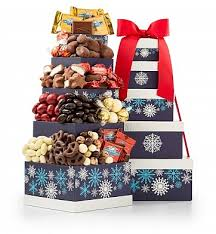 Gift Towers Chocolate Cheer Tower Gift Towers Indulge A Chocolate