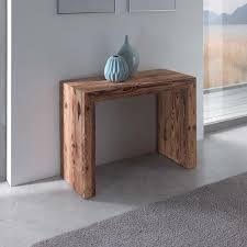 glass extending console table arredaclick