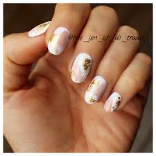 pink and gold foil watercolor nail art nails pinterest