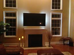 decoration attractive window treatment with mounting a tv over a