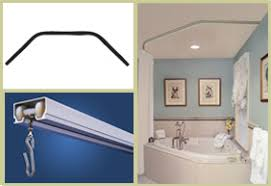 shower rods corner tub curtain rods
