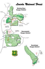 Ruidoso New Mexico Map by Lincoln National Forest About The Forest