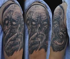 16 half sleeve evil tattoos