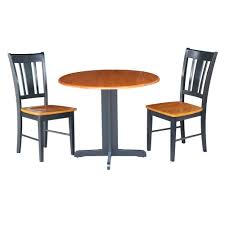 3 piece black and cherry dining set k57 36rp c 10p the home depot