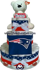 new england patriots diaper cake baby shower gift party
