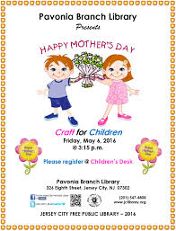 pavonia branch library happy mother u0027s day craft for children