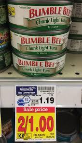 bumble bee chunk light tuna bumble bee chunk light tuna as low as 0 13 at kroger kroger krazy