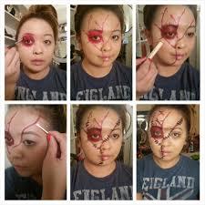 halloween makeup stickers halloween makeup chucky doll tutorial nessasarymakeup com