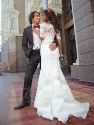 off the shoulder half sleeve lace mermaid wedding dress tbdress com