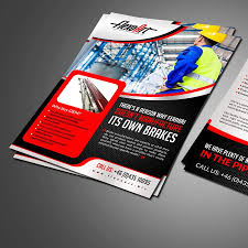 new brochure layout for mechanical engineering company by