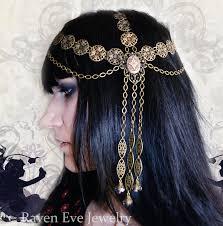 chain headpiece jewelry nouveau goddess chain headpiece