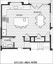 Floor Plans For Large Families by D Kitchen Floor Plan Layout With L Shape Table Top And Island Also
