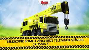 telescopic crane tele cylinder operating system in truck mounted