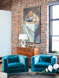 Funky Chairs For Living Room Cool Your Design With Blue Velvet Furniture Hgtv S