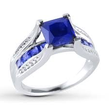 kay jewelers locations kayoutlet lab created sapphire ring 1 10 ct tw diamonds sterling
