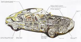 old cars drawings h88 citroen sm cutaway diagram 01 jpg 1600 840 97 204 14