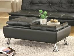 noble rectangular cocktail ottoman picture with tray storage