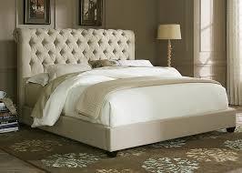 bedroom prod platform tufted modern light brown tan beige faux