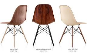 eames molded wood side chair with dowel base hivemodern com