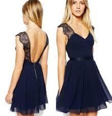 robe de soir e mari e à bretelle bleu marine robe de soirée dentelle mousseline dos nu s xl