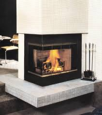 decorations enchating contemporary corner fireplace design with