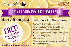 Challenge With Water The Lemon Water Challenge Including Cake Food Mindset Coaching