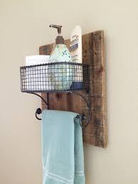 Bathroom Towel Display Ideas Rustic Hand Towel Bathroom Organizer Rack On Natural Reclaimed