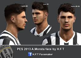 pes 2013 hairstyle pes 2013 morata face by h f t pes patch