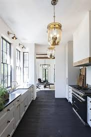 galley style kitchen ideas black and white galley style kitchen kitchens