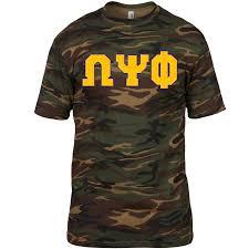 omega psi phi greek letter camouflage shirt u2013 letters greek apparel
