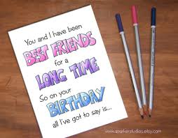 best friends funny birthday card card for best friend bff
