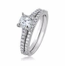 white gold wedding sets amarra cushion cut diamond wedding set in 14k white gold