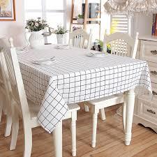table rectangulaire cuisine coton blanc plaid nappe cuisine salle à manger couverture