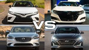honda accord or hyundai sonata 2018 toyota camry vs 2018 honda accord vs 2017 mazda 6 vs 2018