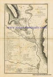 Sparta Greece Map by Essay On The Topography Of Sparta And Its Environs Antique Maps