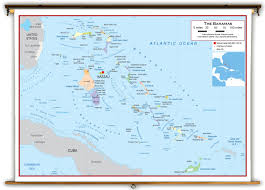 bahamas on map the bahamas political educational wall map from academia maps