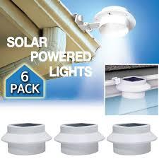 Solar Lights At Menards by 6 Pack Deal Outdoor Solar Gutter Led Lights Basic Handheld