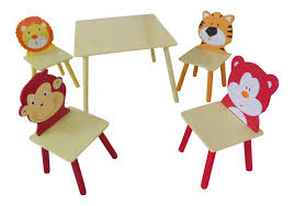 kids animal table and chairs jungle animal themed kids table and four chairs