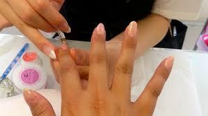 taking gel nails off at march nail salon shibuya ms fancy