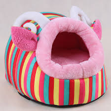 Cute Puppy Beds This Colourful Dog Bed With Ears Is Super Soft And Cosy Using