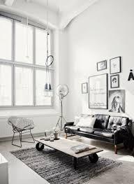 salon canapé cuir salon scandinave 38 idées inspirations diaporama