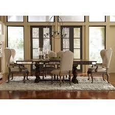 Mirrored Dining Room Tables Pulaski Alekto Trestle Dining Table With Mirrored Apron Aged