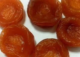 golden orange color dried apricot