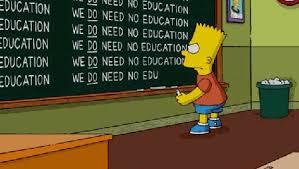 Bart Simpson Meme - bart simpson s chalkboard history bart simpson s chalkboard