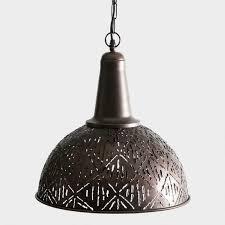 world market pendant light rustic bronze cut metal pendant l world market