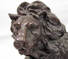 barye lion sculpture lion bronze sculpture after barye
